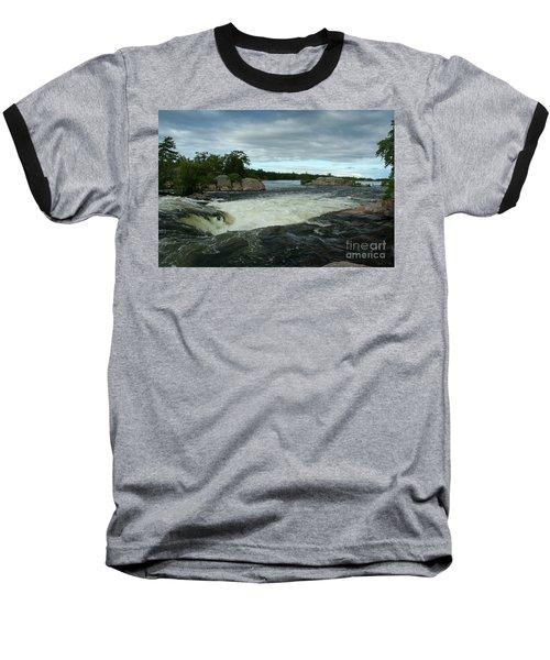 Baseball T-Shirt featuring the photograph Burleigh Falls by Barbara McMahon