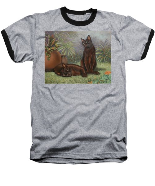 Baseball T-Shirt featuring the painting Burmese Beauty by Cynthia House