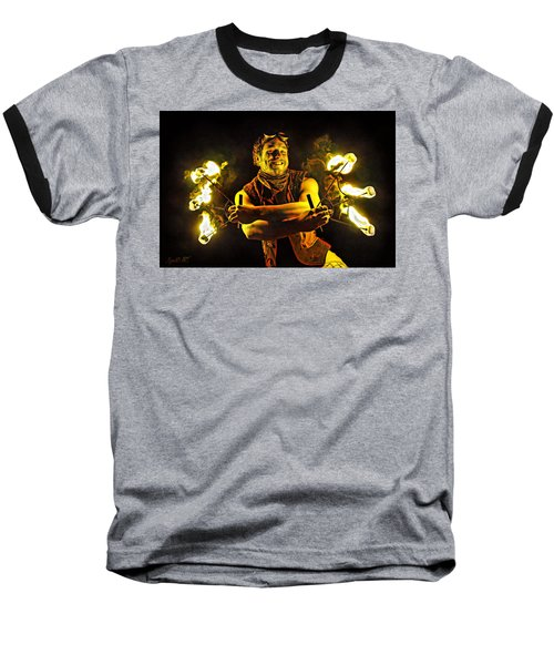 Burning Passion Baseball T-Shirt