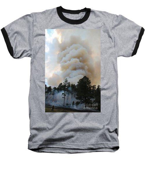 Burnout Near Song Dog Road Baseball T-Shirt by Bill Gabbert