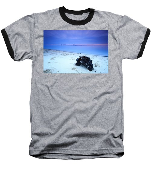 Burnt Driftwood Sunset Baseball T-Shirt