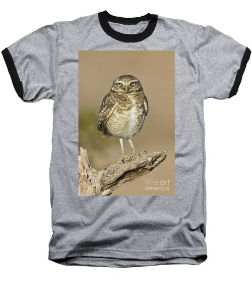 Baseball T-Shirt featuring the photograph Burrowing Owl by Bryan Keil