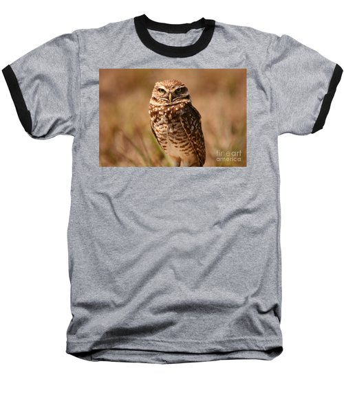 Burrowing Owl Impressions Baseball T-Shirt