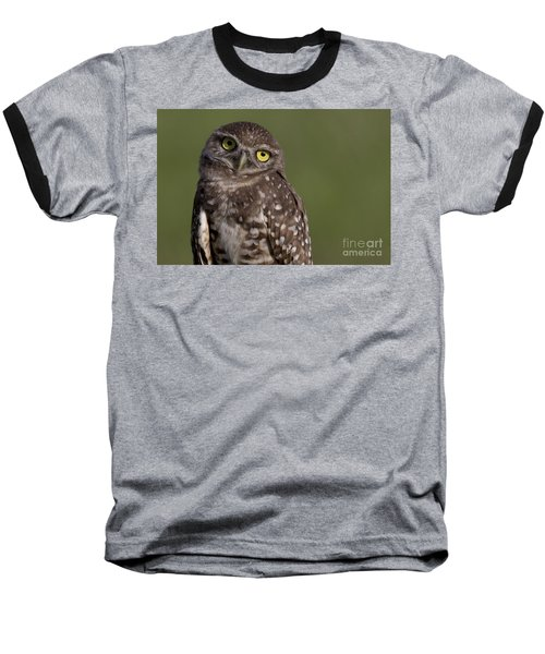 Burrowing Owl Baseball T-Shirt