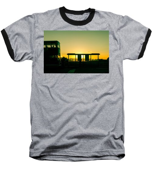 Bus Stop At Sunset Baseball T-Shirt
