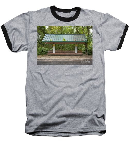 Bus Stop Bench In The Rainforest  Baseball T-Shirt
