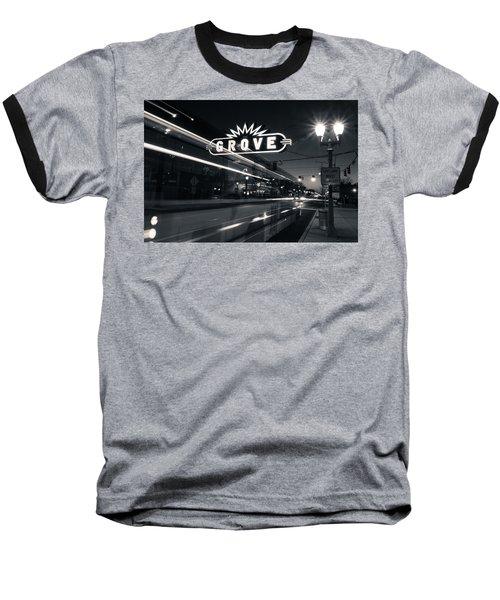 Bus Stop Baseball T-Shirt by Scott Rackers