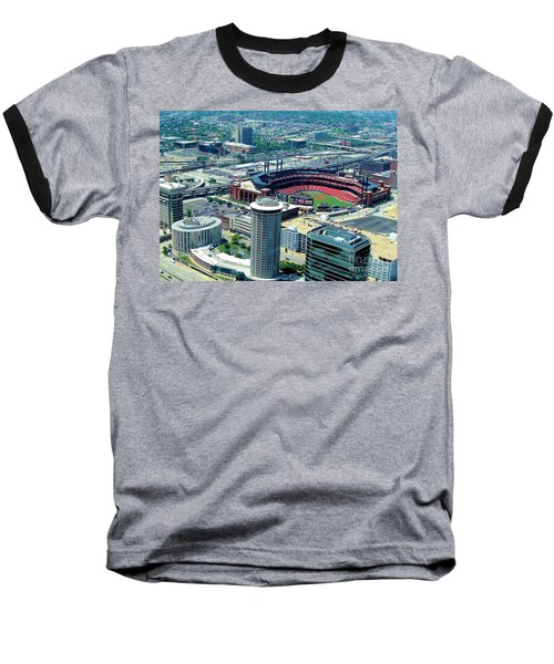 Busch Stadium From The Top Of The Arch Baseball T-Shirt