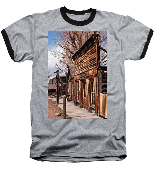 Business Block Baseball T-Shirt by Sue Smith