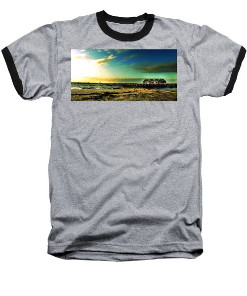 Baseball T-Shirt featuring the photograph Busselton Jetty by Yew Kwang