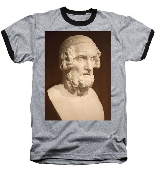 Baseball T-Shirt featuring the photograph Bust Of Homer by Mark Greenberg