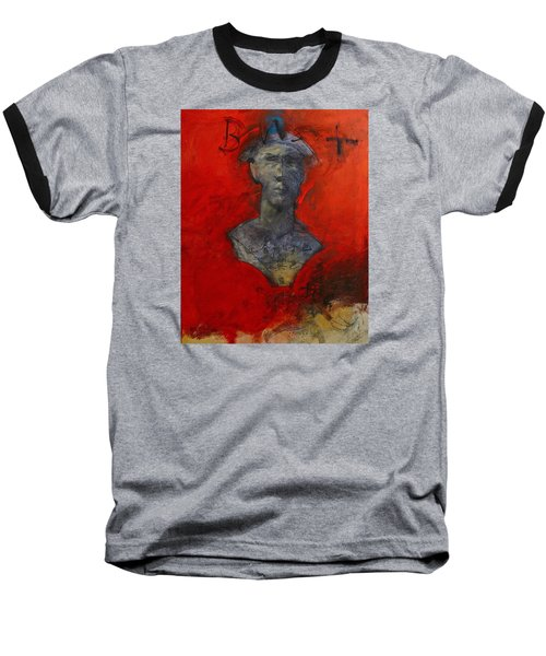 Bust Ted - With Sawdust And Tinsel  Baseball T-Shirt by Cliff Spohn