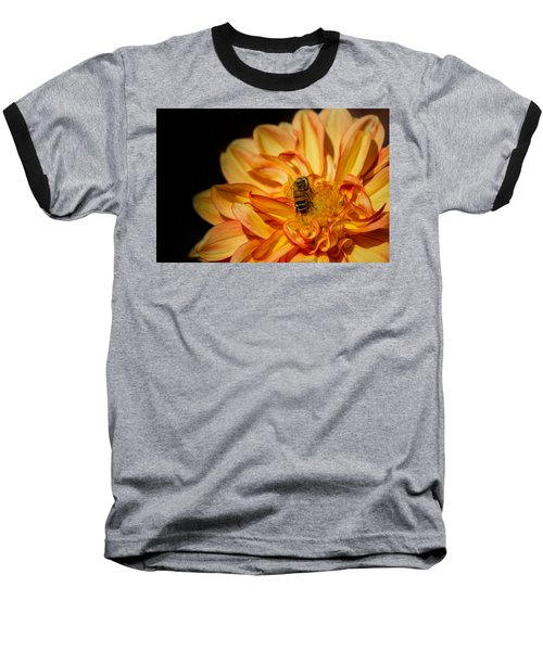 Busy Bee Dahlia Baseball T-Shirt