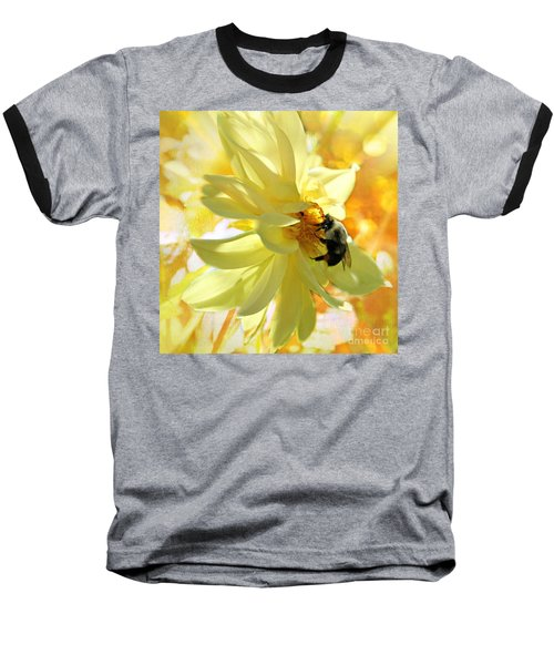Busy Bumble Bee Baseball T-Shirt by Judy Palkimas