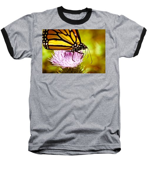 Baseball T-Shirt featuring the photograph Busy Butterfly by Cheryl Baxter