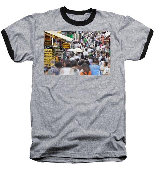 Busy Takeshita Dori Baseball T-Shirt