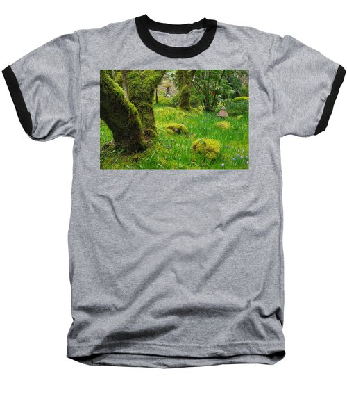 Baseball T-Shirt featuring the photograph Butchart Gardens - Vancouver Island by Marilyn Wilson