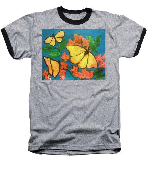 Butterflies Baseball T-Shirt by Christy Saunders Church