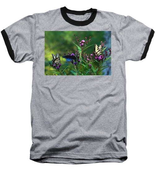 Butterflies Three Baseball T-Shirt