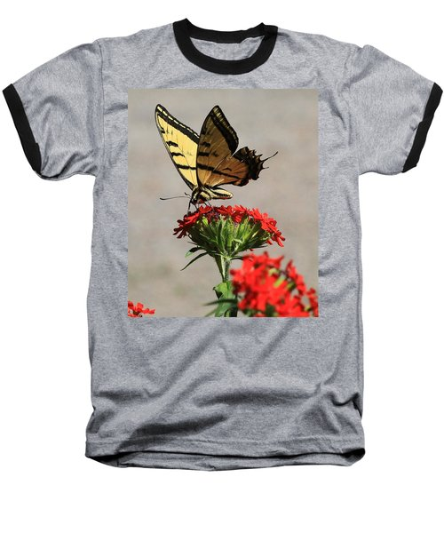 Baseball T-Shirt featuring the photograph Butterfly And Maltese Cross 1 by Aaron Aldrich