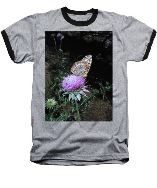Butterfly At Peace Baseball T-Shirt