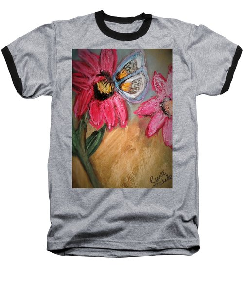 Butterfly Breakfast Baseball T-Shirt