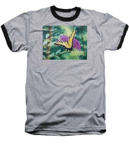 Butterfly Bush Baseball T-Shirt
