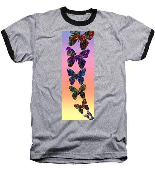 Baseball T-Shirt featuring the photograph Butterfly Collage IIII by Robert Meanor