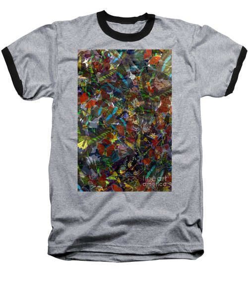 Baseball T-Shirt featuring the photograph Butterfly Collage by Robert Meanor