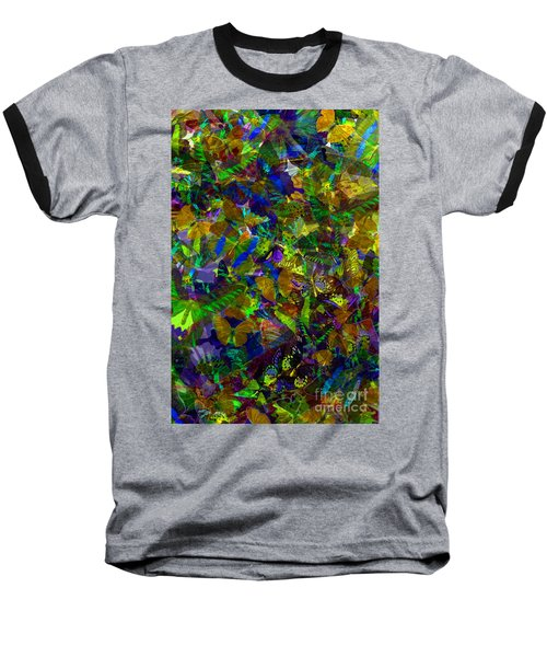 Baseball T-Shirt featuring the photograph Butterfly Collage Yellow by Robert Meanor