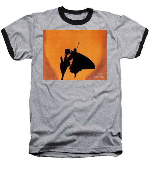 Baseball T-Shirt featuring the drawing Butterfly by D Hackett