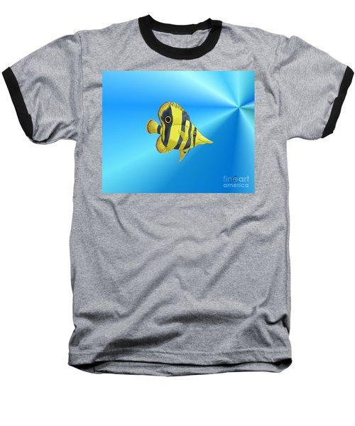 Baseball T-Shirt featuring the digital art Butterfly Fish by Chris Thomas