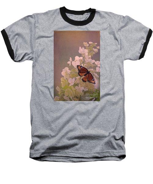 Butterfly Glow Baseball T-Shirt by Elizabeth Winter