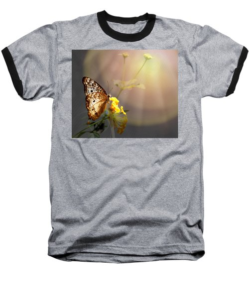 Butterfly Glow Baseball T-Shirt by Judy Vincent
