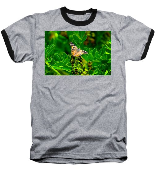 Butterfly In Paradise Baseball T-Shirt