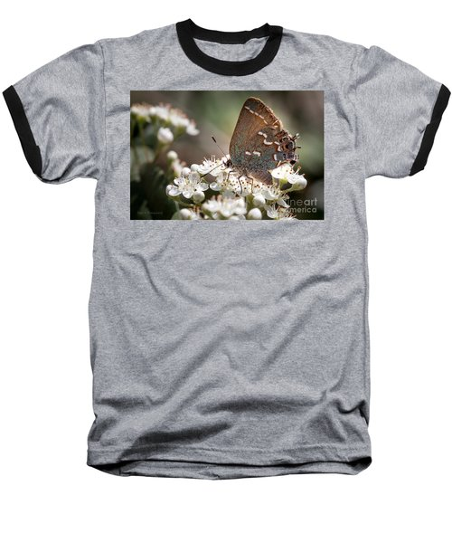 Butterfly In The Garden Baseball T-Shirt