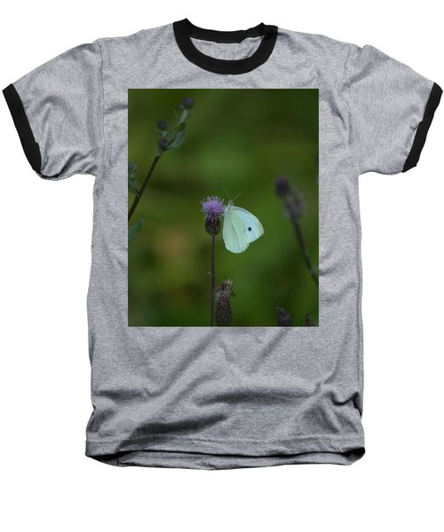 Butterfly In White 2 Baseball T-Shirt