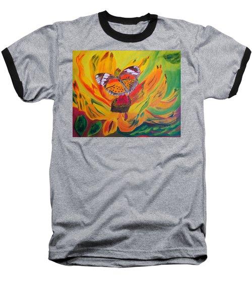 Butterfly Jungle Baseball T-Shirt