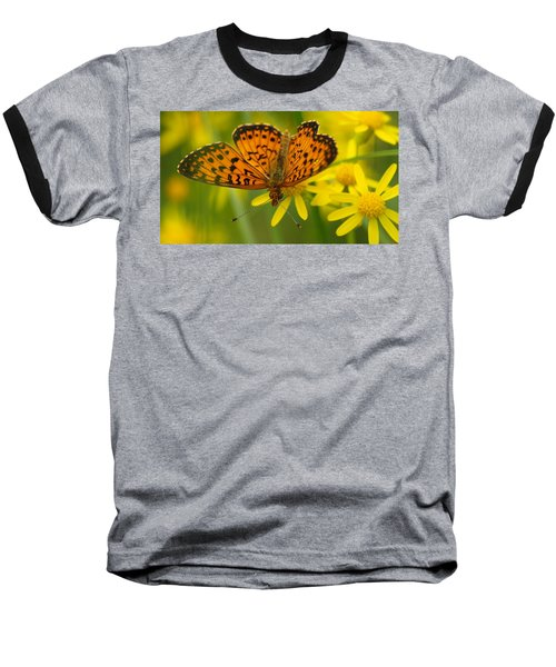 Baseball T-Shirt featuring the photograph Butterfly by James Peterson