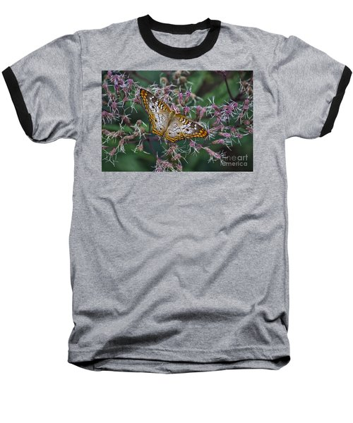Baseball T-Shirt featuring the photograph Butterfly Soft Landing by Thomas Woolworth