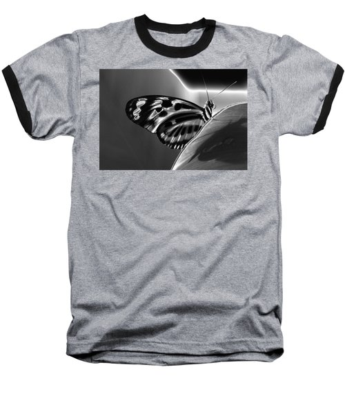 Butterfly Solarized Baseball T-Shirt