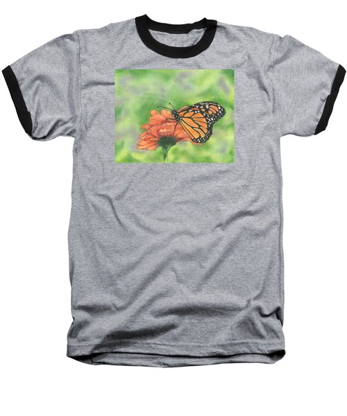 Baseball T-Shirt featuring the drawing Butterfly by Troy Levesque