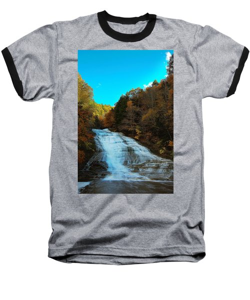 Baseball T-Shirt featuring the photograph Buttermilk Falls Ithaca New York by Paul Ge