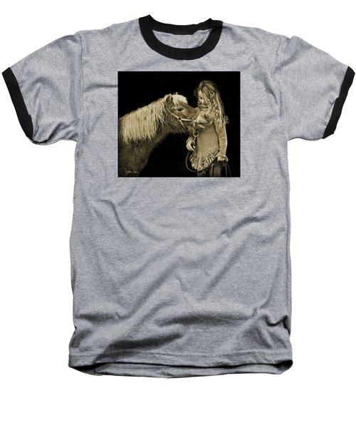 Butterscotch Baseball T-Shirt by Joan Davis