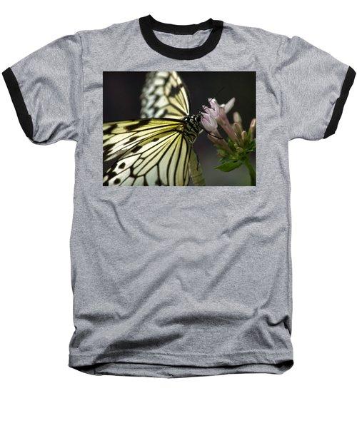 Butteryfly Baseball T-Shirt by John Swartz