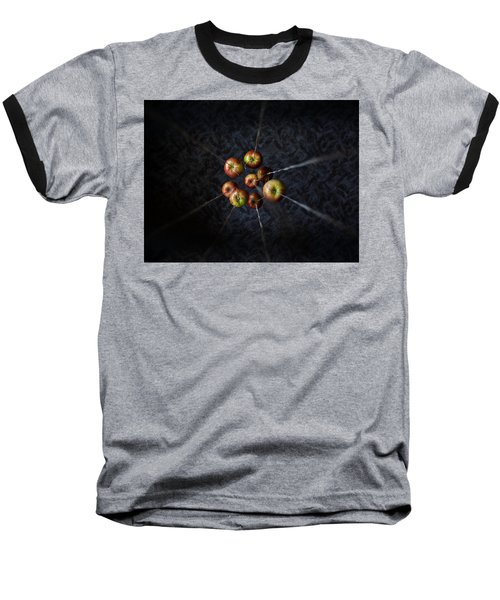 Baseball T-Shirt featuring the photograph By A Thread by Aaron Aldrich