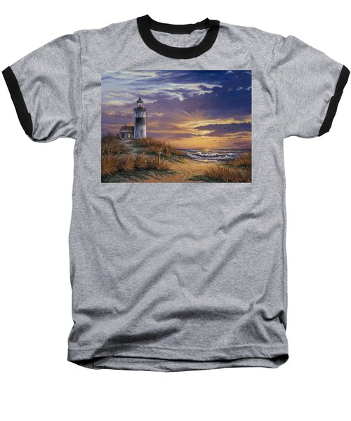 Baseball T-Shirt featuring the painting By The Bay by Kyle Wood