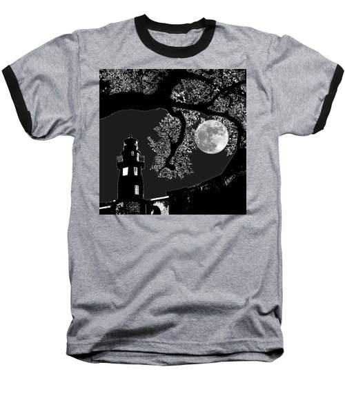 Baseball T-Shirt featuring the photograph By The Light by Robert McCubbin