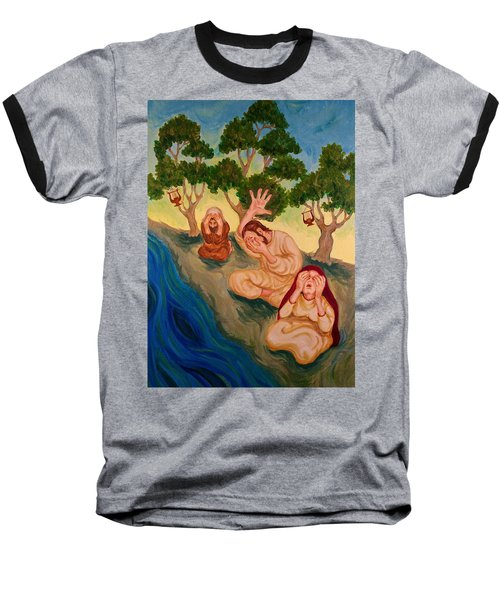 By The Rivers Of Babylon - Psalm 137 Baseball T-Shirt