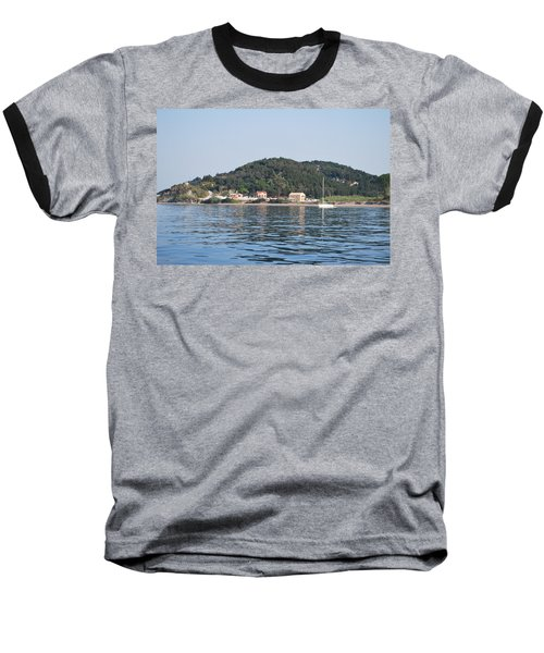 Baseball T-Shirt featuring the photograph By The Sea by George Katechis